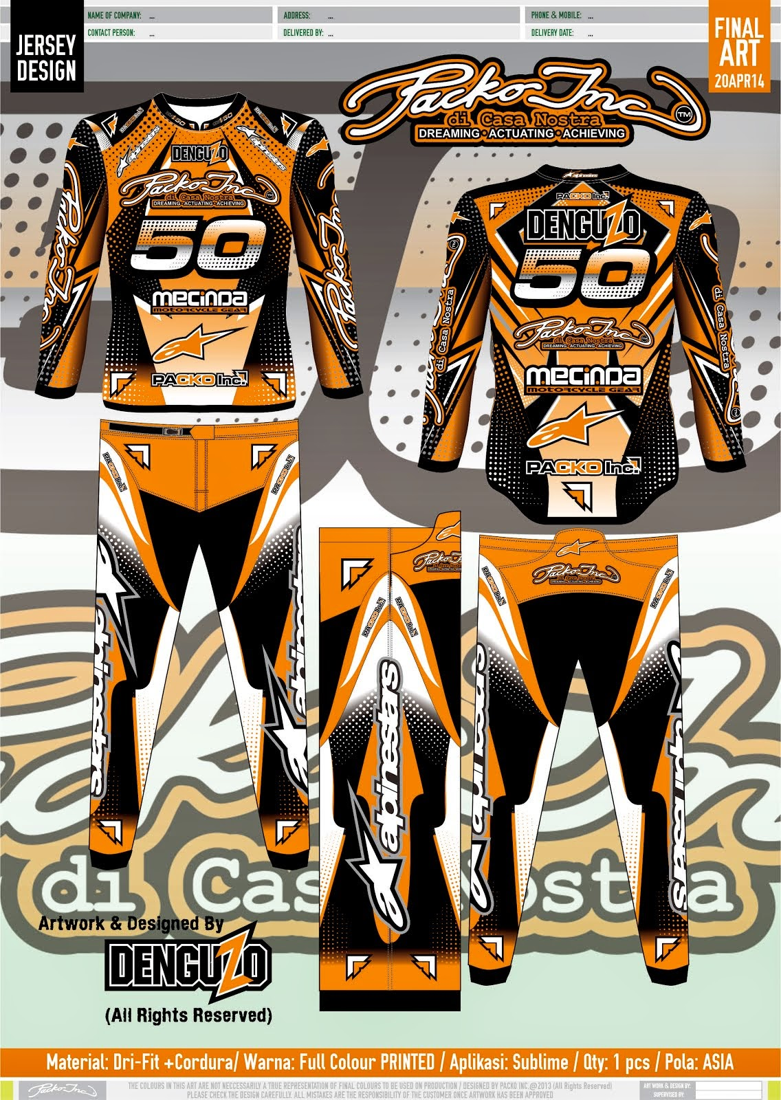 PACKO MX Jersey