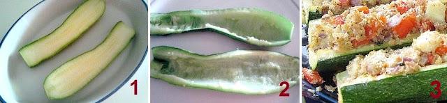ricetta zucchine ripiene microonde