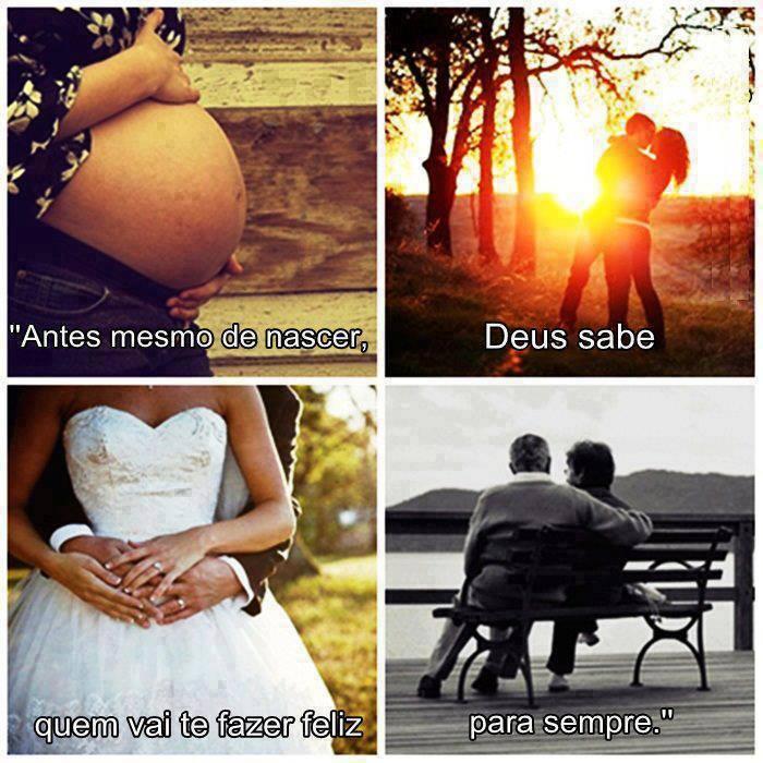 Frases Romanticas Antes Mesmo De Nascer Deus Sabe Quem Vai Te