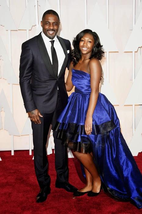 Oscar 2015 Idris Elba e Isan Elba