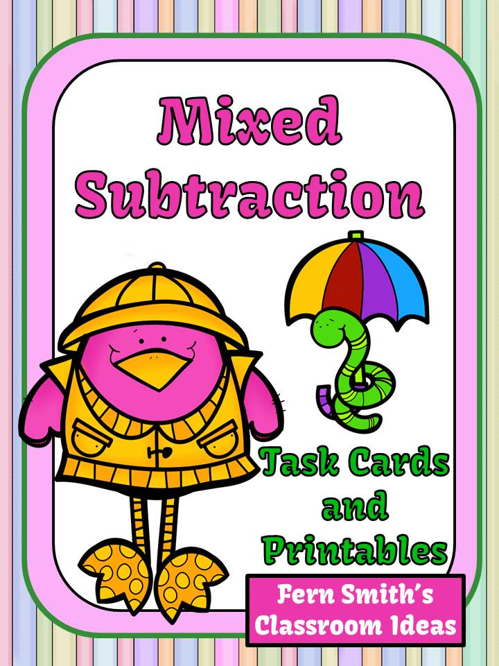 http://www.teacherspayteachers.com/Product/Mixed-Subtraction-Spring-Task-Cards-and-Printables-for-1OA6-and-2OA2-1152269