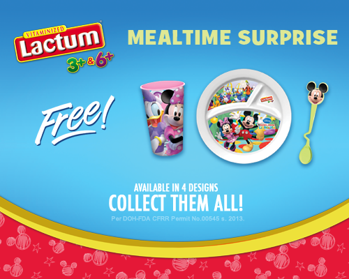 Lactum Philippines Promo, Lactum Mealtime Surprise, Lactum Birthday Blowout