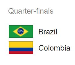 Jadwal Pertandingan Brazil vs Kolombia - perempat final Piala Dunia 2014
