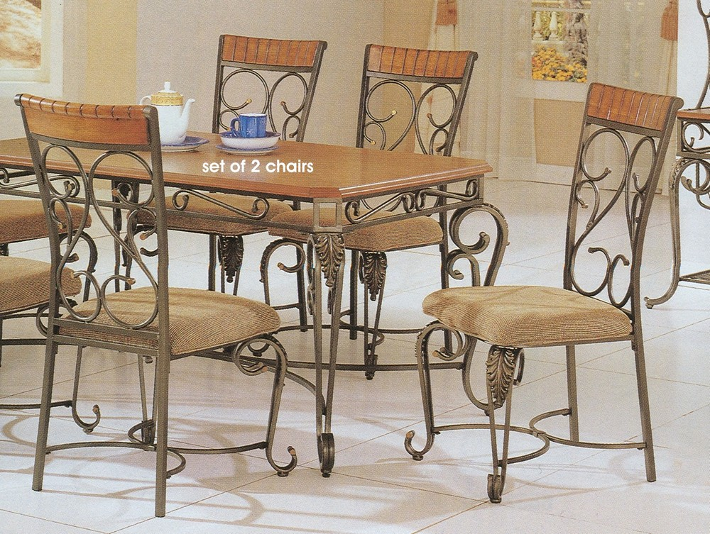 Wrought iron dining room furniture furniture for Breakfast room furniture