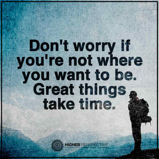 Don T Worry Quotes Delectable Don't Worry If You Are Not Where You Want To Be Great Things Take