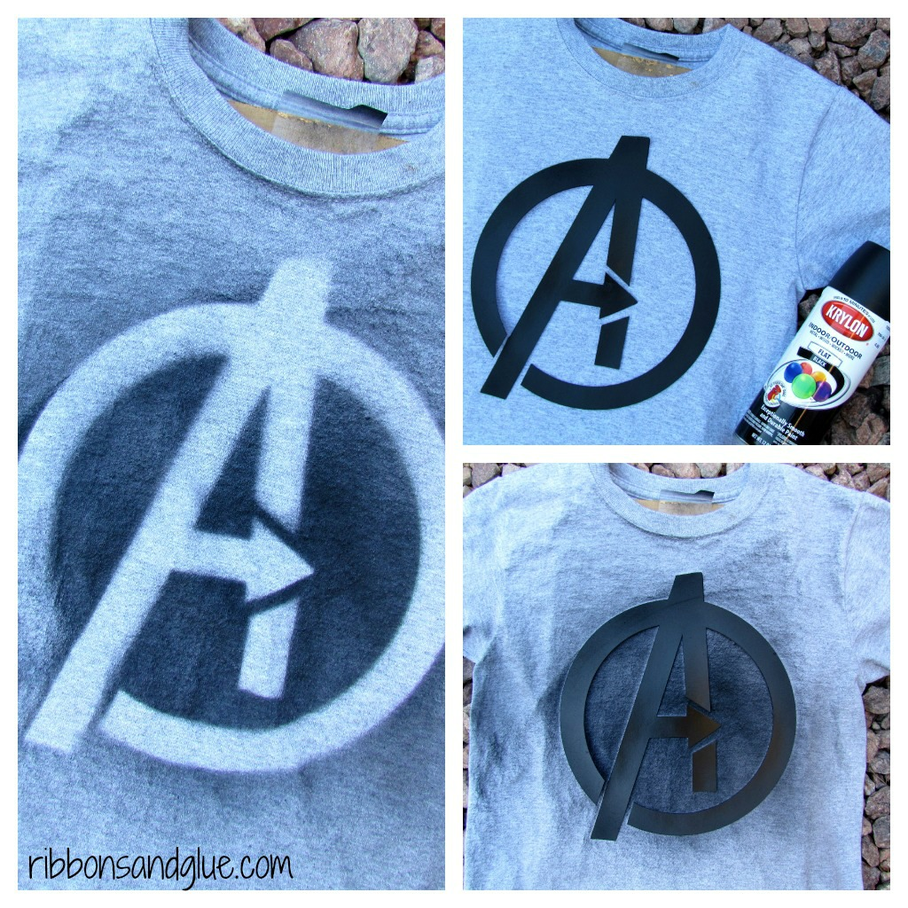 Spray Painted Avengers T- Shirts
