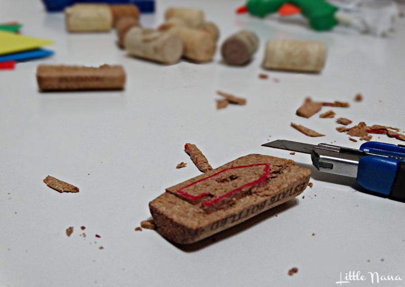 Diy sellos para niños corchos tapones manualidades pintar