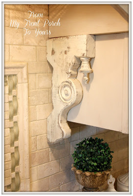 Farmhouse Kitchen Makeover-Rustic Corbels-Custom Stove Hood-French Country Kitchen-From My Front Porch To Yours