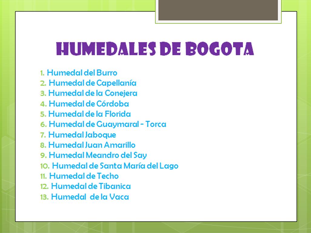 humedales bogota: