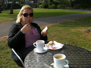 cream tea in the sun
