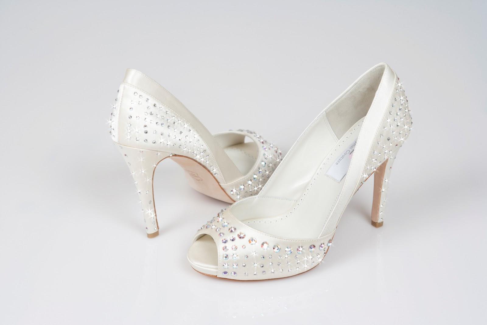 You Can Buy These Ladies Designer Luxury Swarovski Crystal High Heel  Peeptoe Wedding Shoes   Glitz U0026amp; Glamour   Online Now, With 30% Off.
