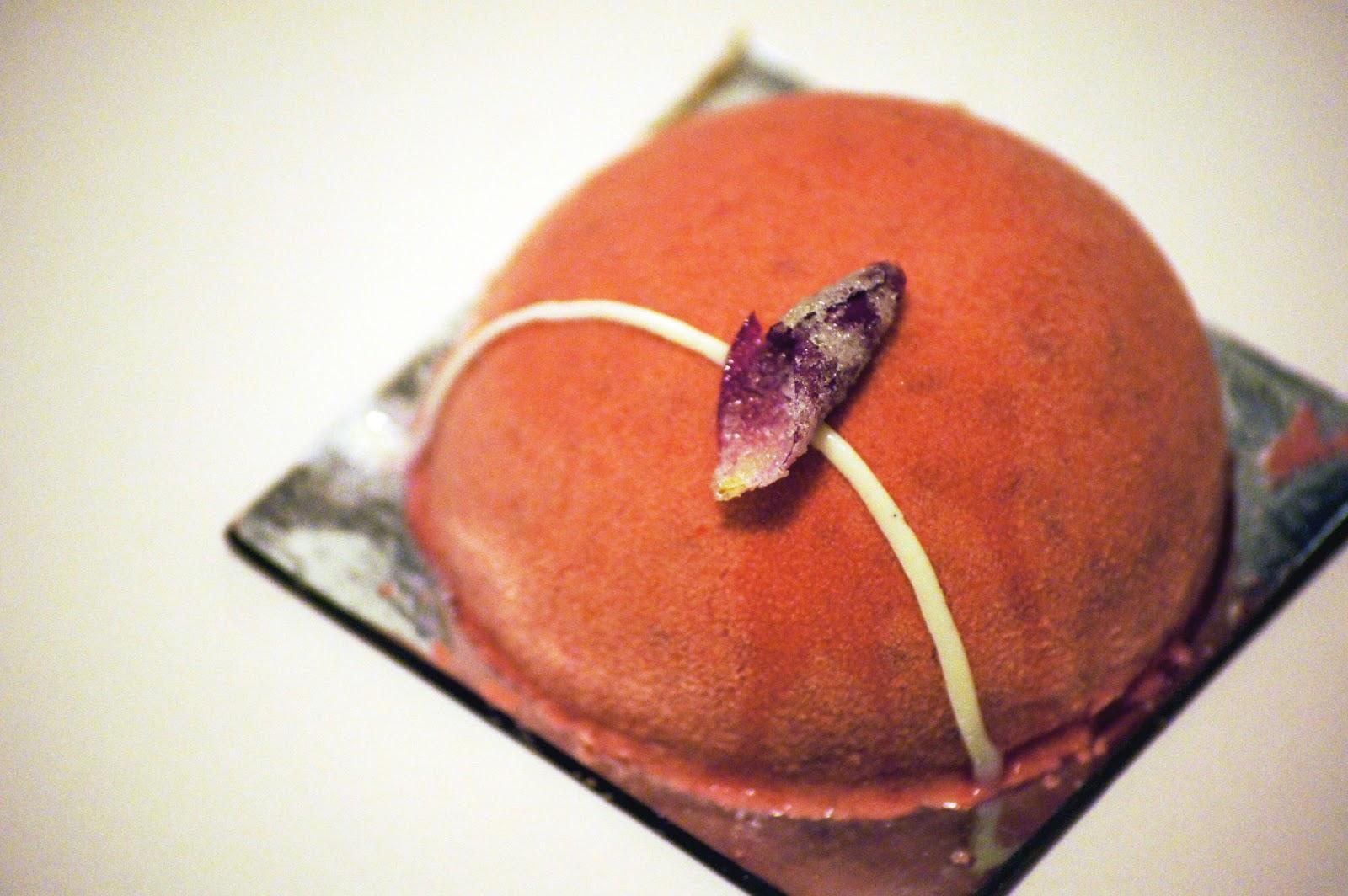Milse raspberry dessert, auckland dessert, auckland fine dining