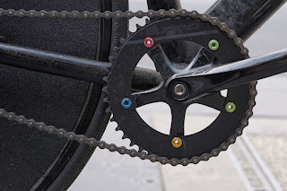 Melbourne Victoria Australia fixie fixed speed, spencer street urban the biketorialist tim macauley black sugino track frame FT-B carbon saddle cranks stealth