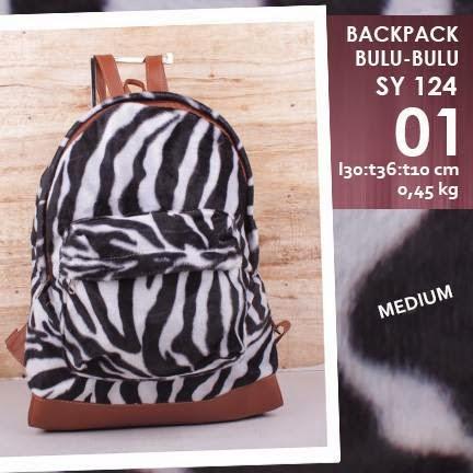 jual online tas backpack mini corak zebra harga murah