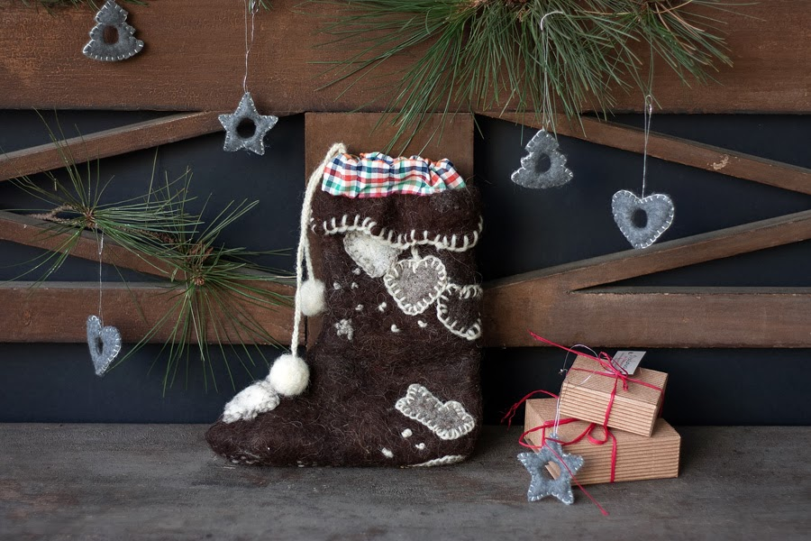 Rrradionica Christmas Stocking Home Decor