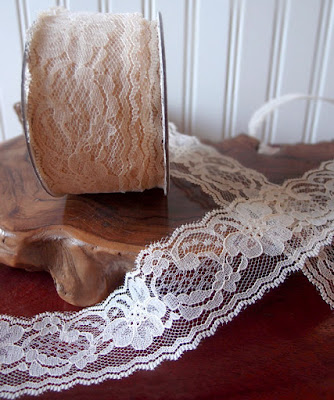 SRM Stickers Blog - Burlap Christmas Stocking by Annette - #burlap #christmas #stockings #lace #ecru #twine #shimmertwiner #DIY
