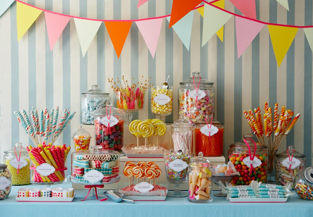 Candy in Weddings - Candy Buffet Dessert Table