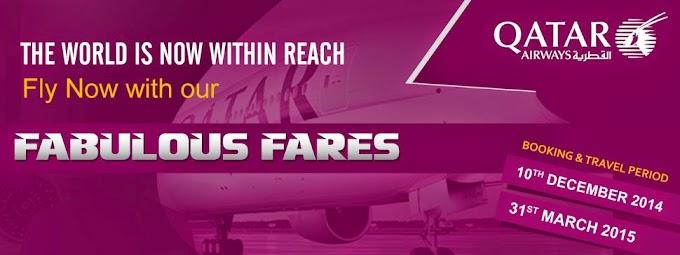 QATAR Airways Fabulous Fares....