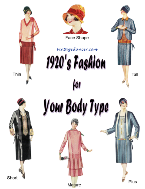 free e-book 1920s downton abbey style for your body type via Vintage Dancer