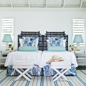 am not in love with this head board and twin beds (cute for a guest
