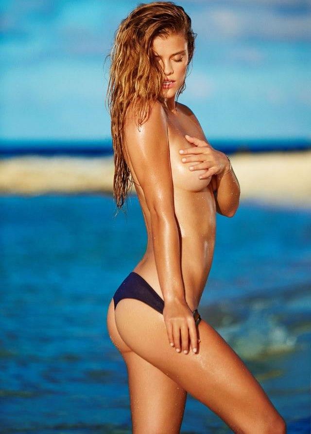 Nina Agdals en topless para fotógrafo Jeff Olson