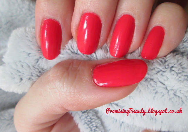Review of MUA nail polish in bright coral. Orange summer spring manicure. Pedicure colour for summer style.