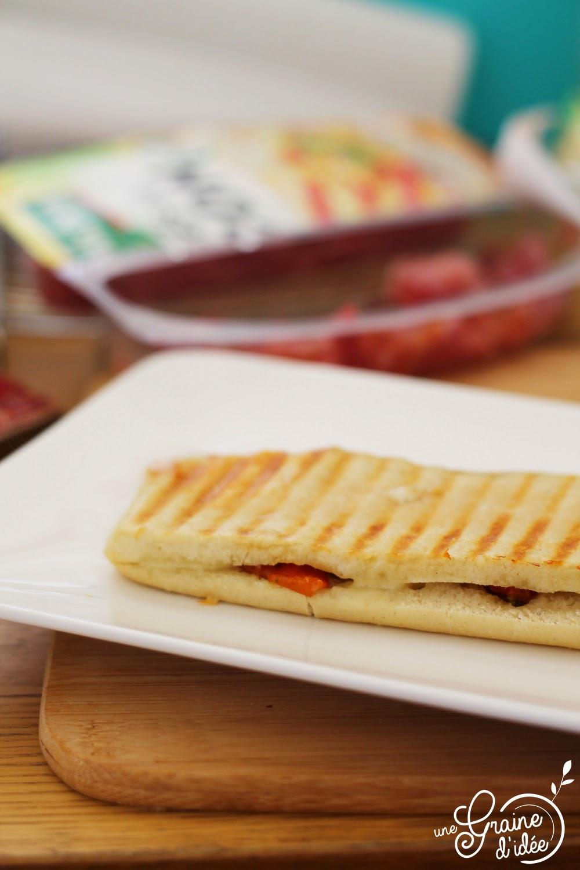 Panini émincés de bacon ossau irraty tomates séchées - Une Graine d'Idée