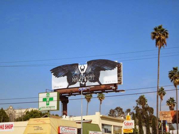 Disney Maleficent movie billboard Sunset Boulevard