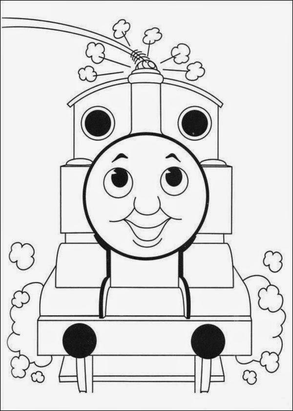 Mewarnai gambar Thomas untuk anak 13