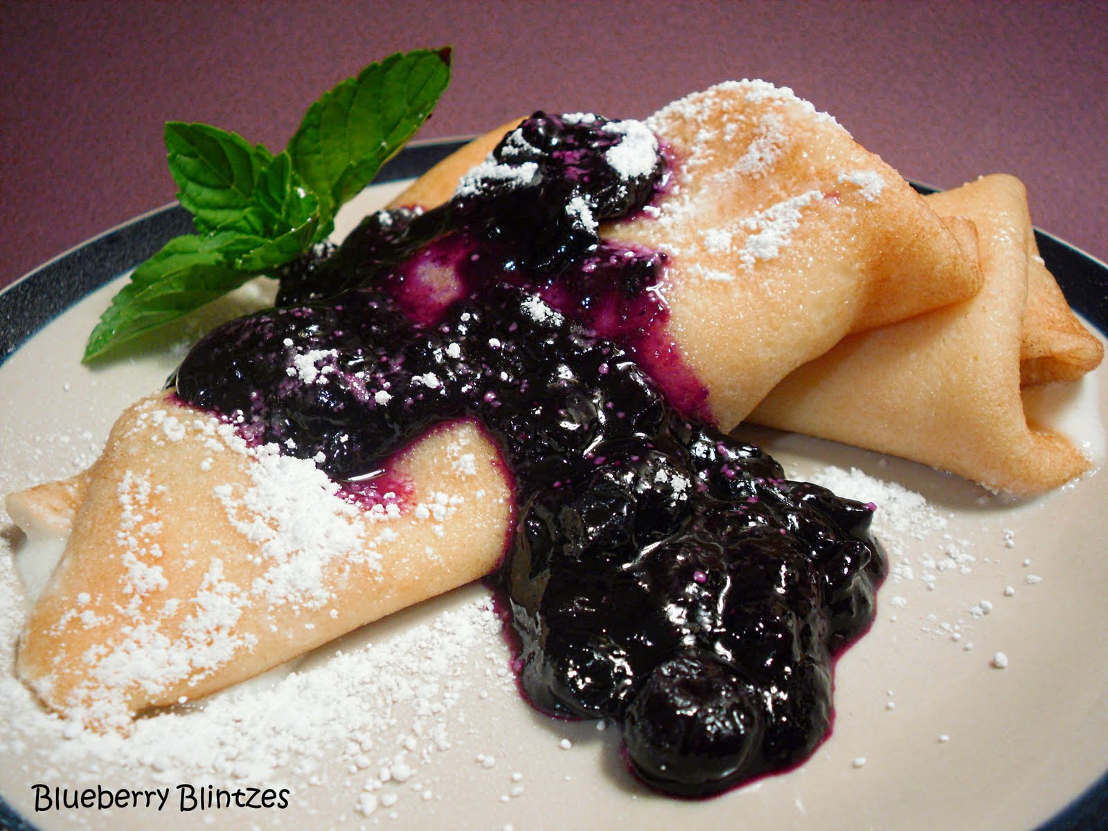 Comfy Cuisine: Blueberry-Cheese Blintzes