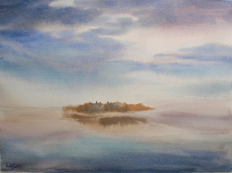 wet-on-wet watercolor