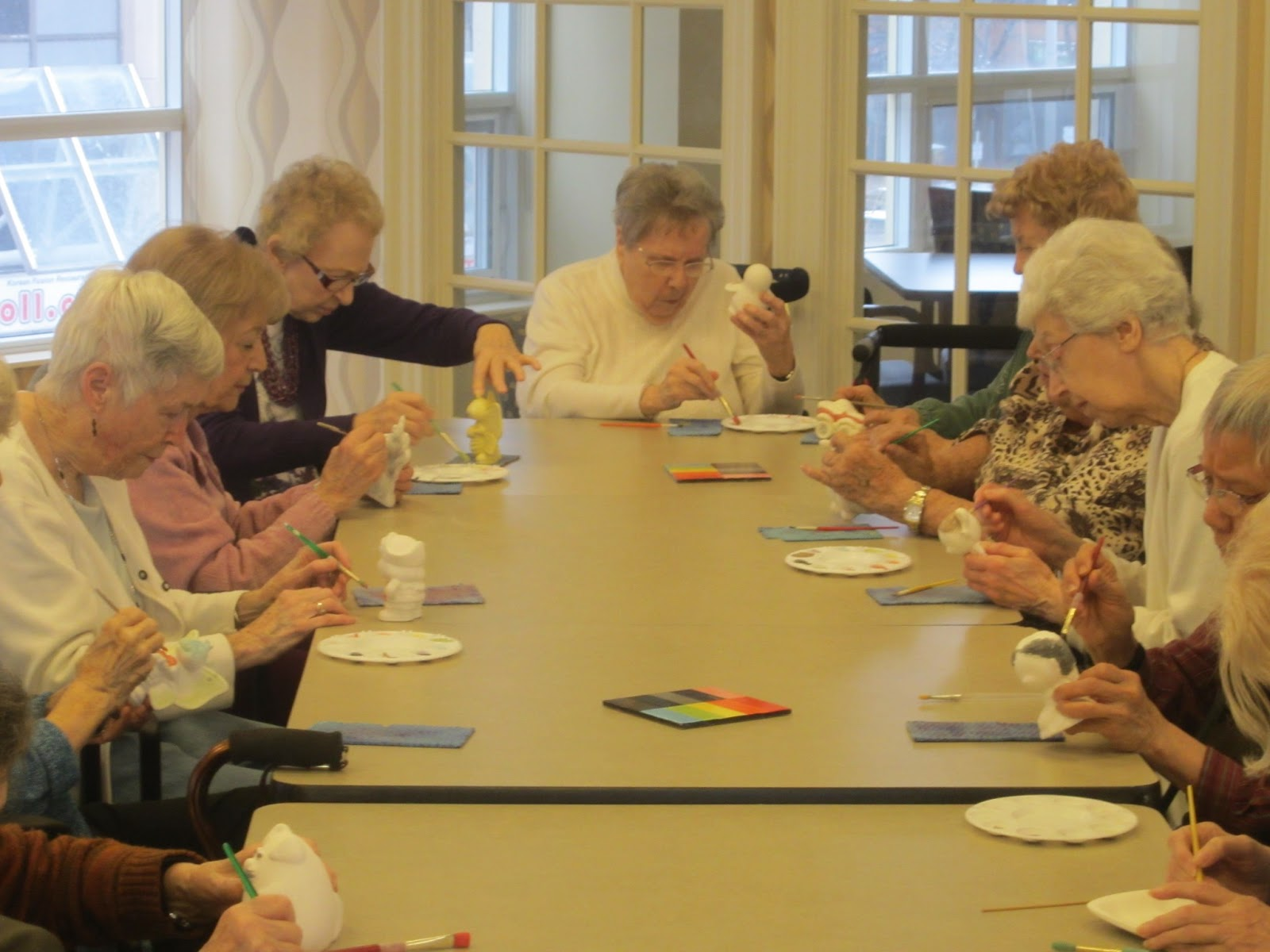 Delmanor news painting pottery at delmanor northtown for Crafts for seniors with limited dexterity