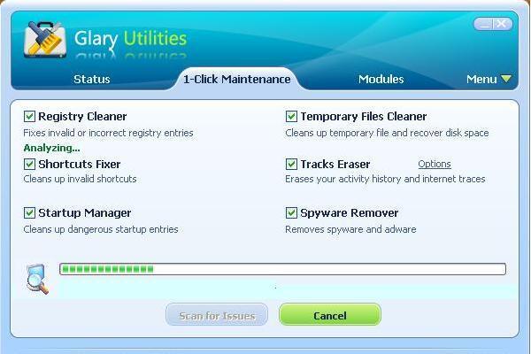 glary utilities prikaz rada 1