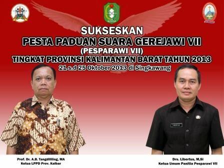 Ketua LPPD Provinsi dan Ketua Umum Panitia Pesparawi VII