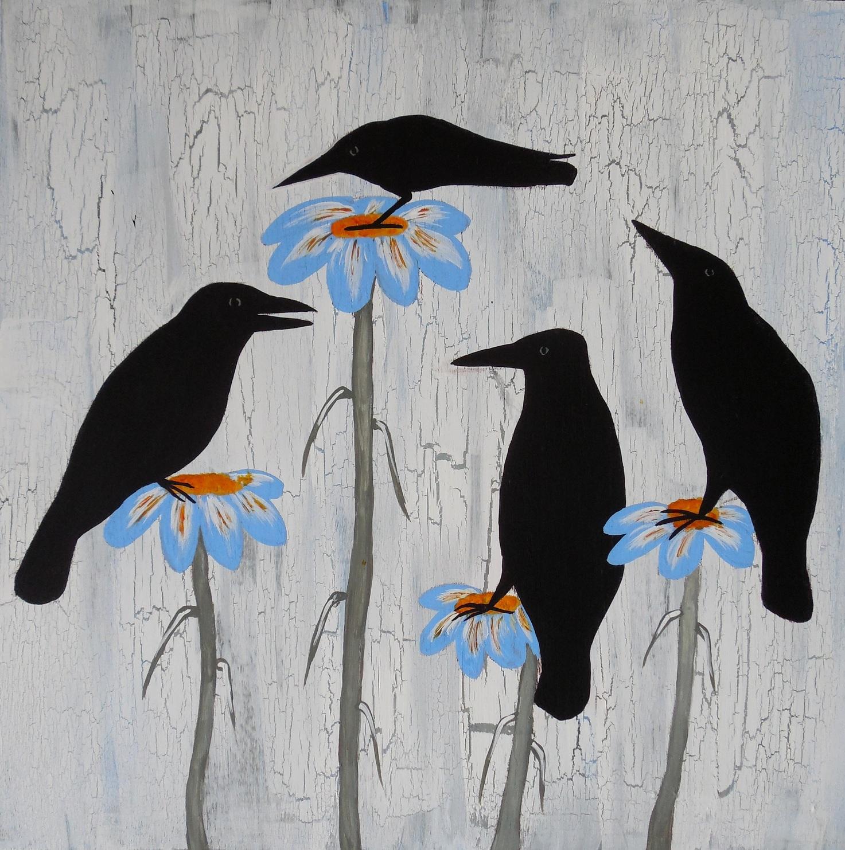 Conscious art studios crow totem symbolism on contemplation crow totem symbolism on contemplation buycottarizona