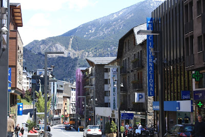Meritxell avenue is a well-known shopping street in Andorra La Vella