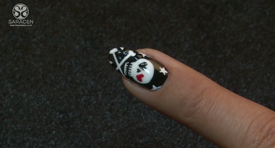 Sara Youtube Class! Cutie skull nail art video!