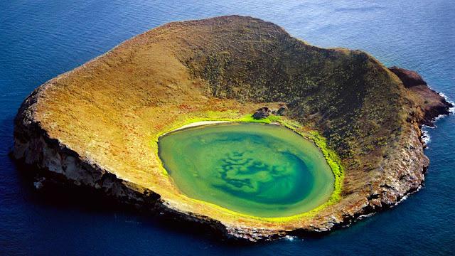 Volcanic crater of Isabela Island, Galápagos Islands, Ecuador (© Frans Lanting/Corbis) 677