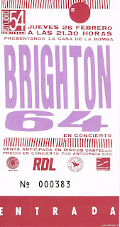 entrada de concierto de brighton 64