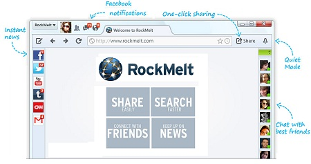 Download RockMelt Browser from RockMelt.com for WOW Experience