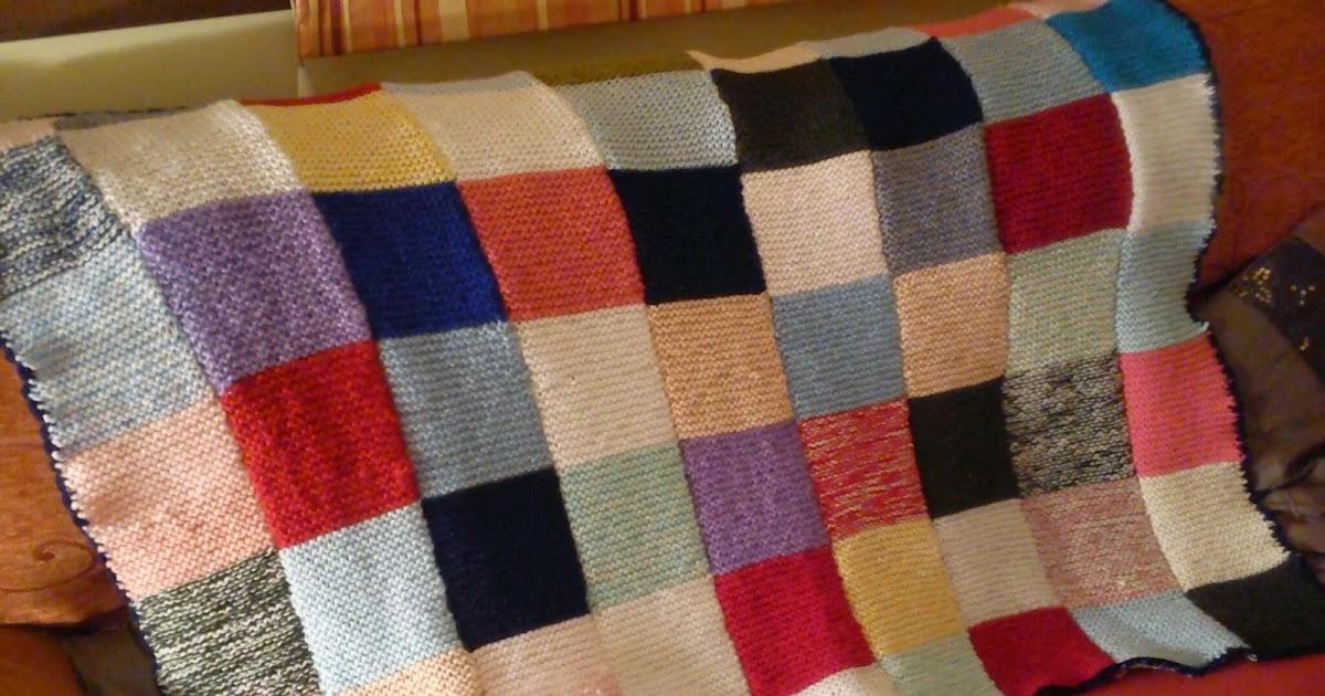 Artesanas de hilo y lana manta lana cuadros colores for Mantas de lana de colores