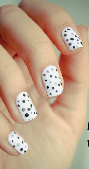 Manicura, Diseño en Color Blanco