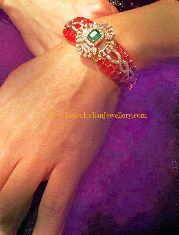Plique-E-Jour Enamel Diamond Bracelet