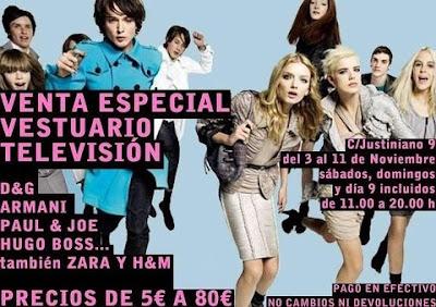 venta vestuario de televisión en Madrid