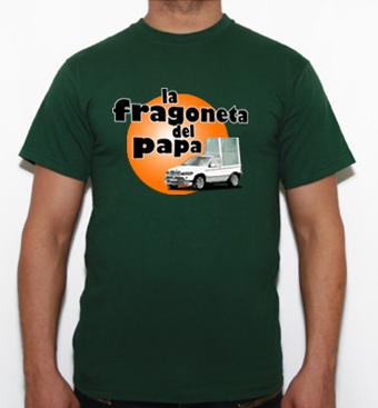 camiseta la fragoneta del papa en tuestilo.net