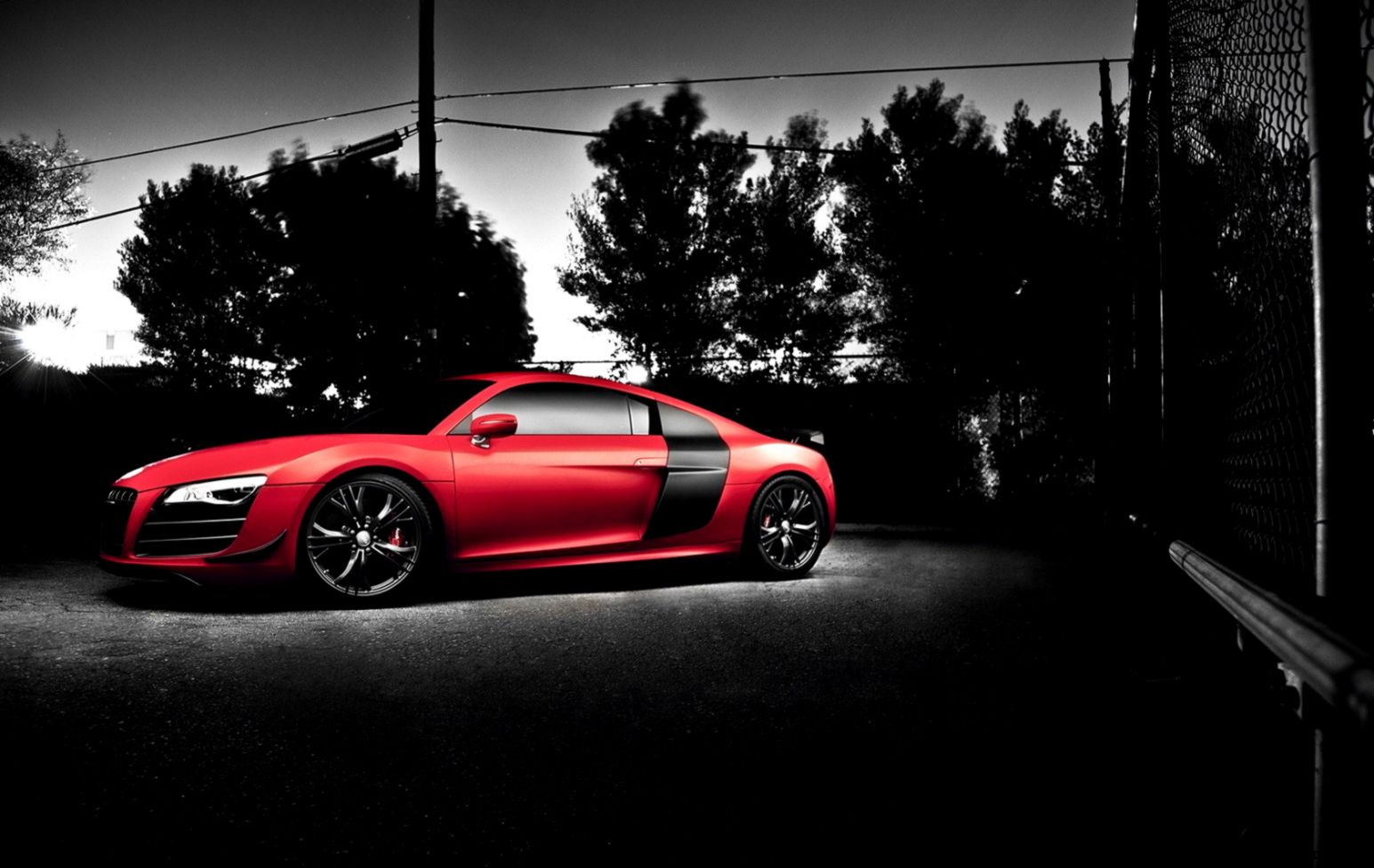 Audi R8 Red Car Wheels Tuning Hd Wallpaper