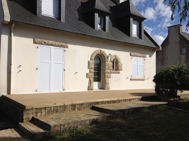 Terrasse gravillonée jaune - Coat Maen - Folgoet