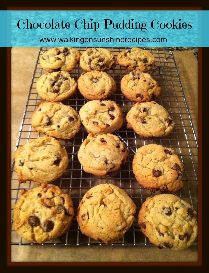 Chocolate Chip PUDDING Cookies... | Walking on Sunshine