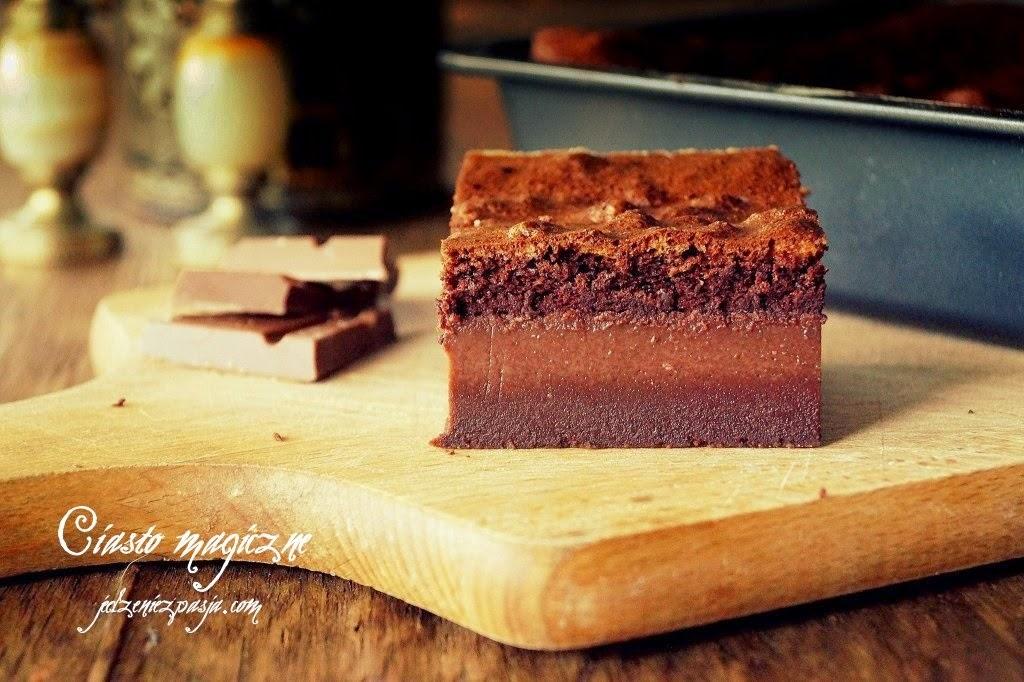 Ciasto magiczne czekoladowe