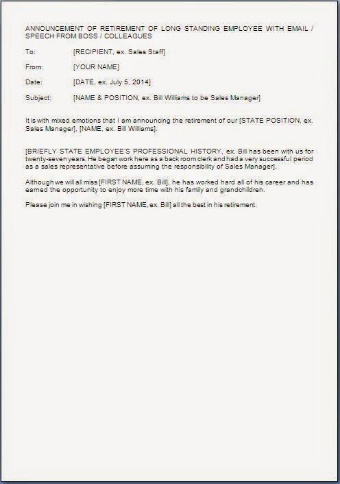 Retirement Letter Samples